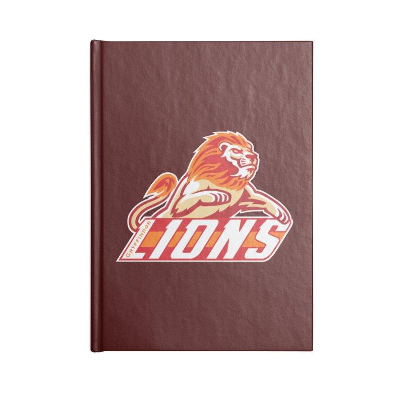 Gryffindor Lions Accessories Notebook by immerzion's t-shirt designs