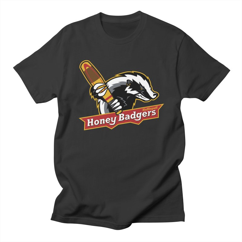 Hufflepuff Honey Badgers in Men's T-shirt Smoke by immerzion's t-shirt designs