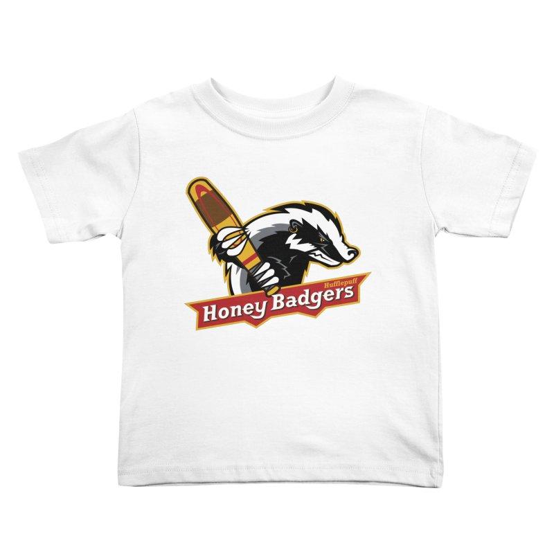 Hufflepuff Honey Badgers Kids Toddler T-Shirt by immerzion's t-shirt designs