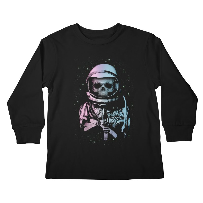 Death In Space Kids Longsleeve T-Shirt by immortalized's Artist Shop