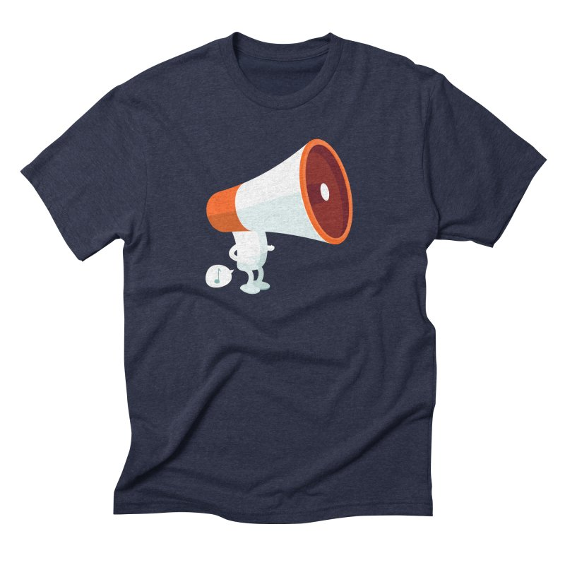 Megaphone Men's Triblend T-Shirt by cospell's Artist Shop