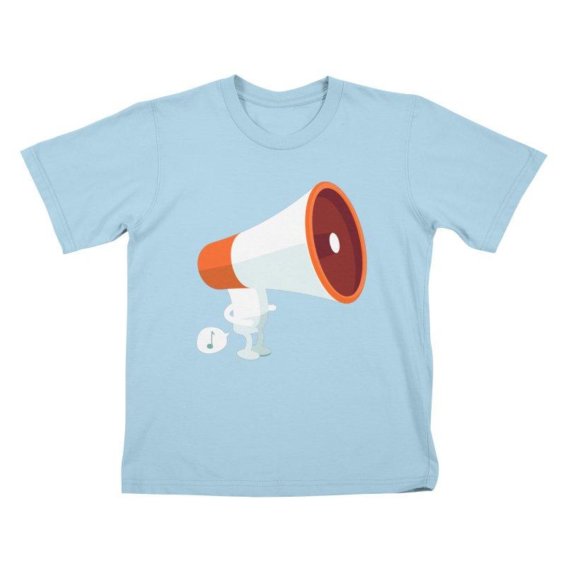 Megaphone Kids T-shirt by cospell's Artist Shop
