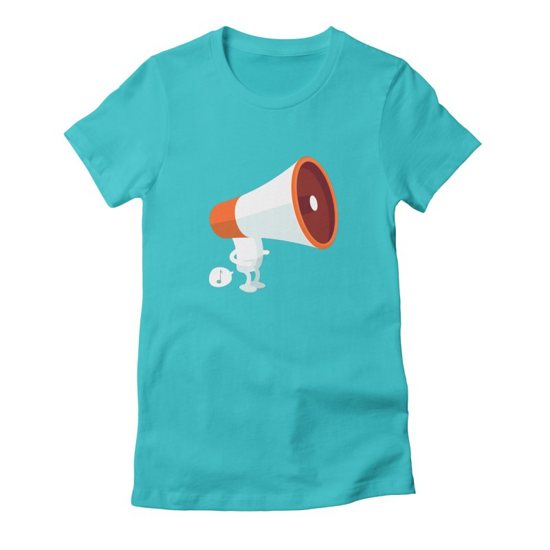 Megaphone Women's Fitted T-Shirt by cospell's Artist Shop