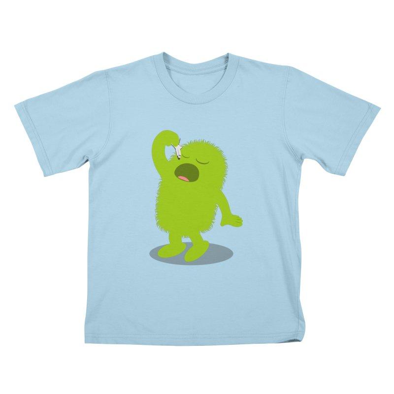My furry monster Kids T-Shirt by cospell's Artist Shop