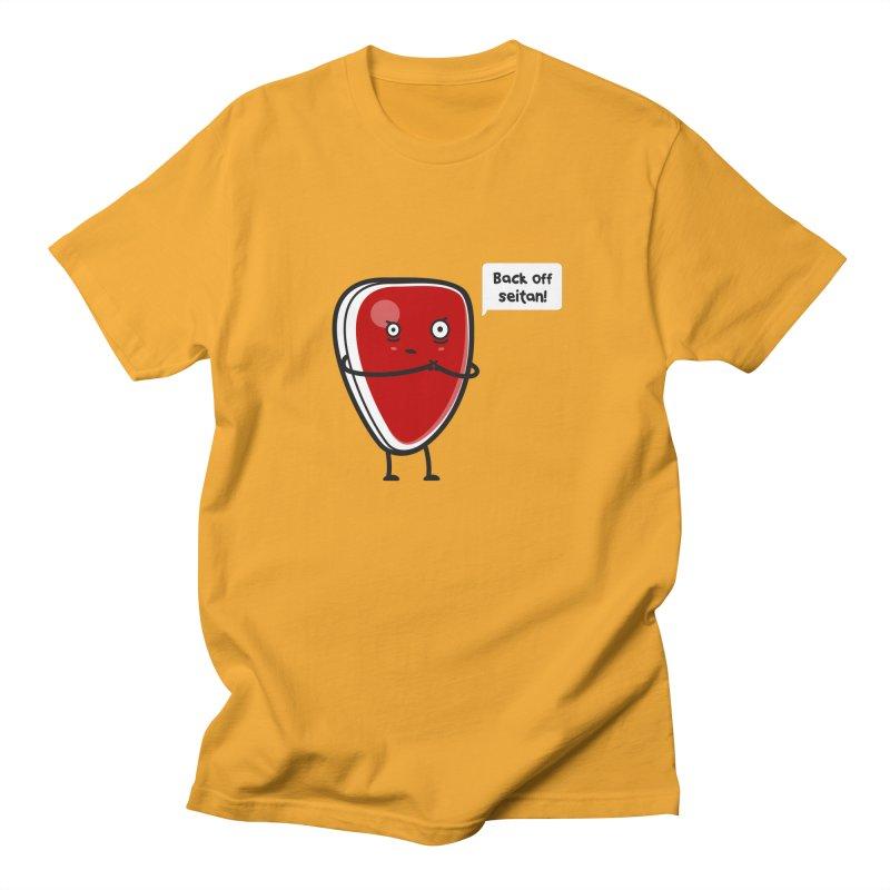 Back off seitan! Men's T-Shirt by cospell's Artist Shop