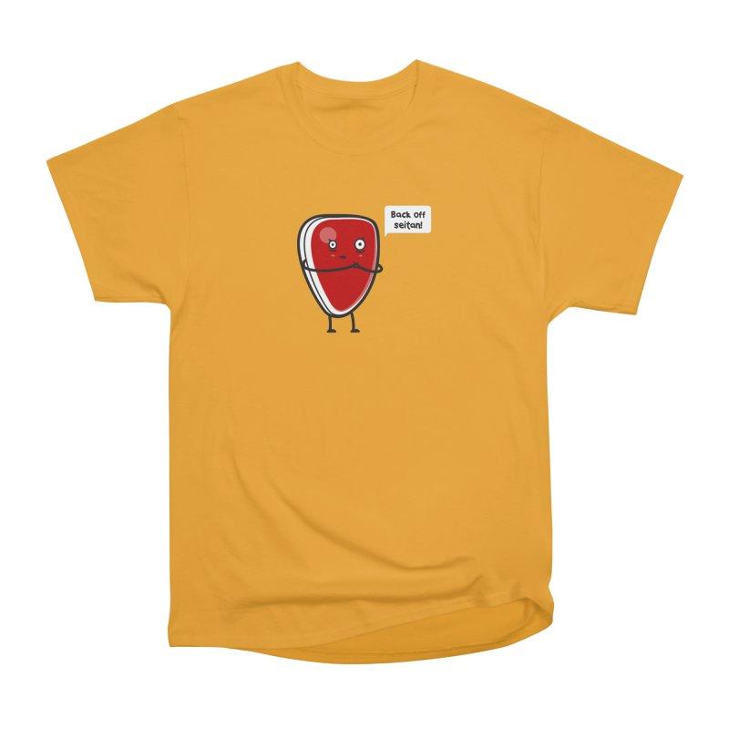 Back off seitan! Men's Heavyweight T-Shirt by cospell's Artist Shop