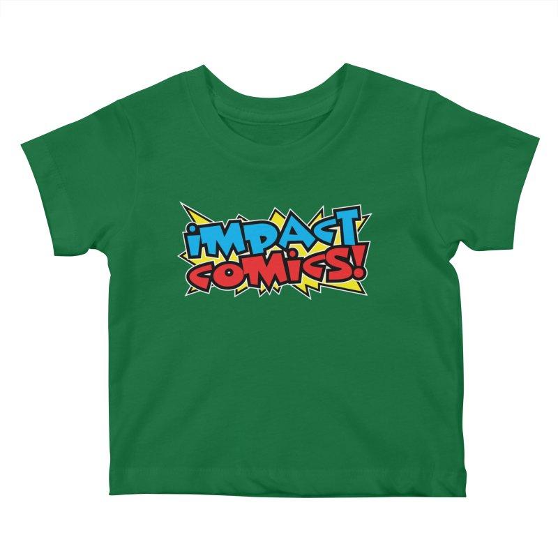 Impact Comics Colour Star logo Kids Baby T-Shirt by Impact Comics official merch shop