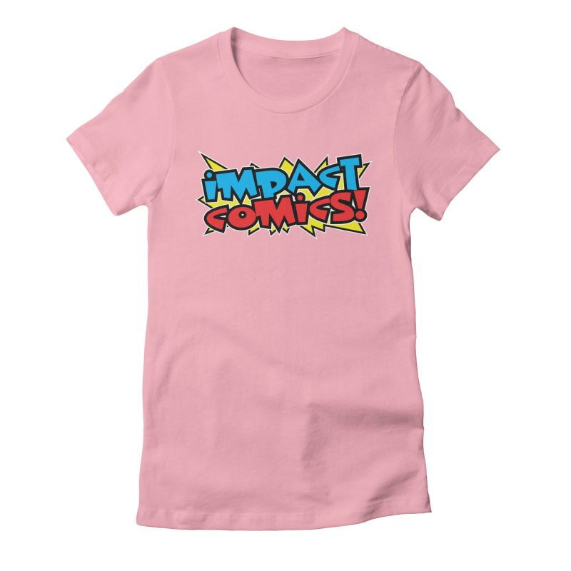 Impact Comics Colour Star logo in Women's Fitted T-Shirt Light Pink by Impact Comics official merch shop