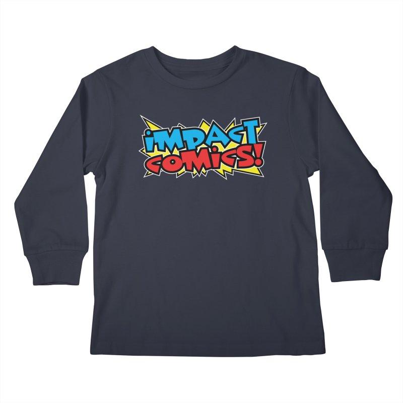 Impact Comics Colour Star logo Kids Longsleeve T-Shirt by Impact Comics official merch shop