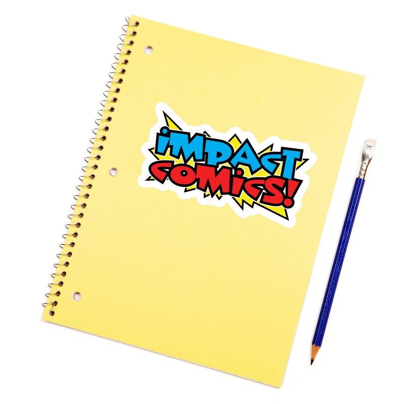 Impact Comics Colour Star logo Accessories Sticker by Impact Comics official merch shop