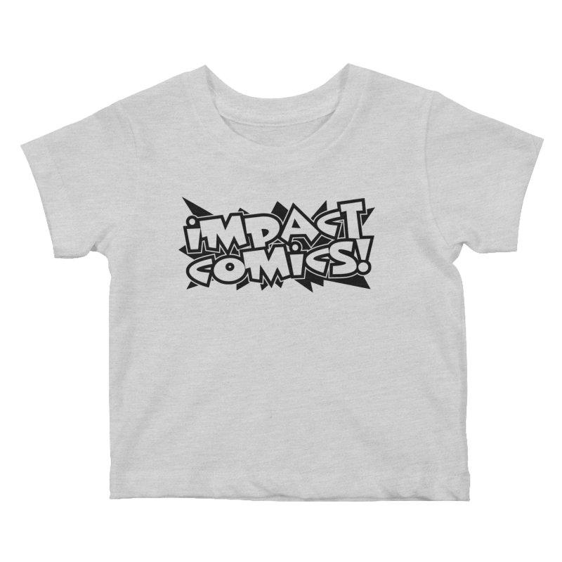 Impact Comics Black Star Logo Kids Baby T-Shirt by Impact Comics official merch shop