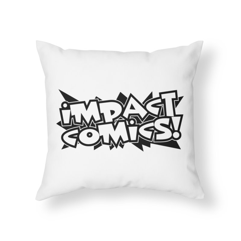 Impact Comics Black Star Logo in Throw Pillow by Impact Comics official merch shop
