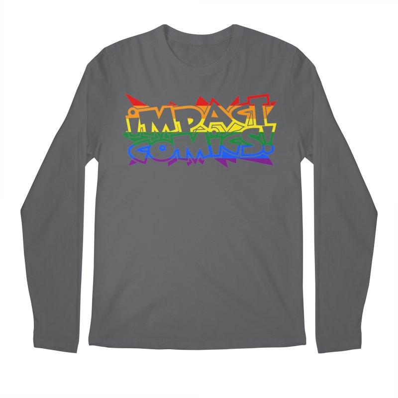 Impact Comics Logo Rainbow Star Men's Longsleeve T-Shirt by Impact Comics official merch shop