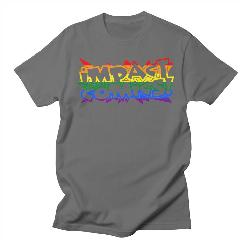 Impact Comics Logo Rainbow Star Men's T-Shirt by Impact Comics official merch shop