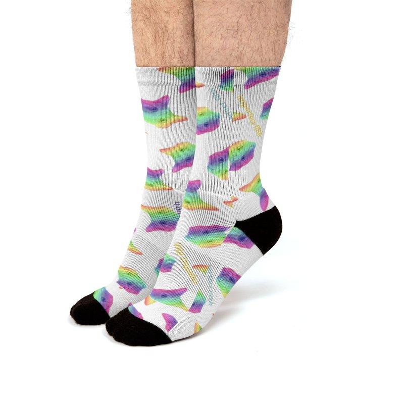 rainbow kitten surprise Men's Socks by Imperfect Fifth's Artist Shop