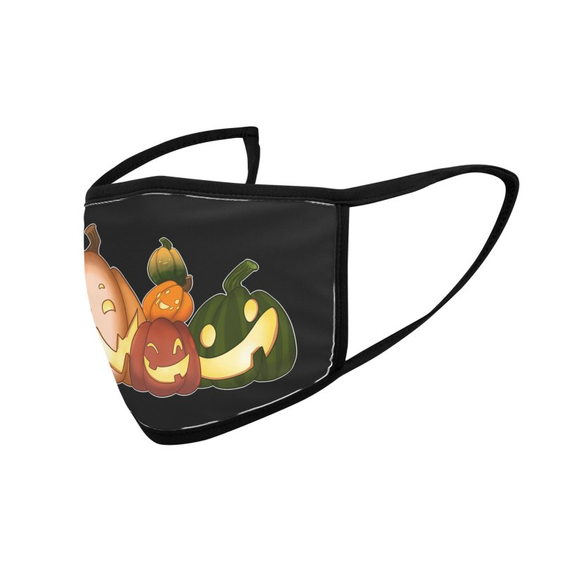 Happy Pumpkin Pals Accessories Face Mask by impistry's Artist Shop