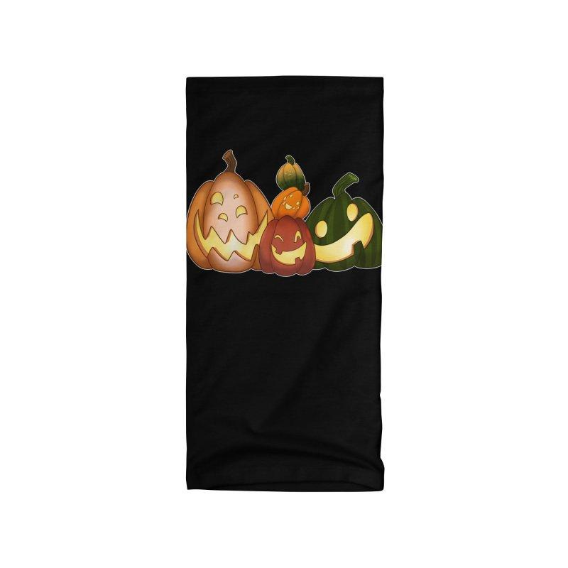 Happy Pumpkin Pals Accessories Neck Gaiter by impistry's Artist Shop
