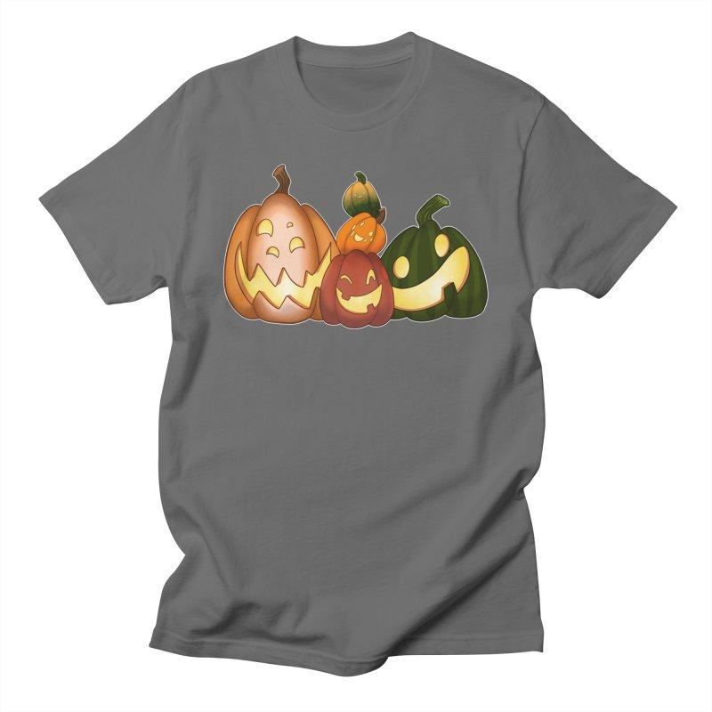 Happy Pumpkin Pals Women's T-Shirt by impistry's Artist Shop