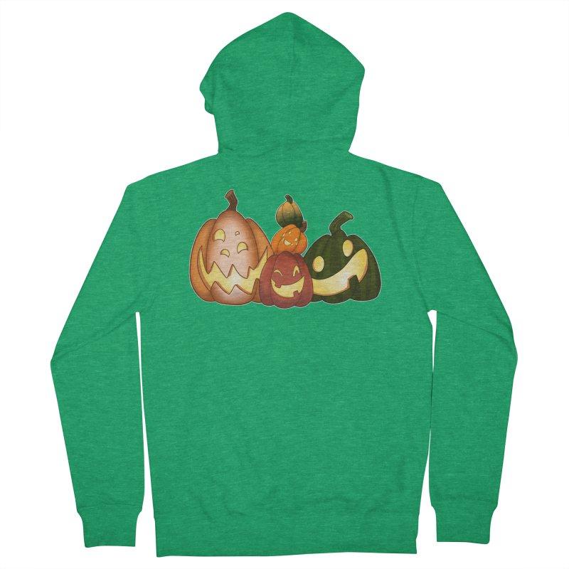 Happy Pumpkin Pals Women's Zip-Up Hoody by impistry's Artist Shop