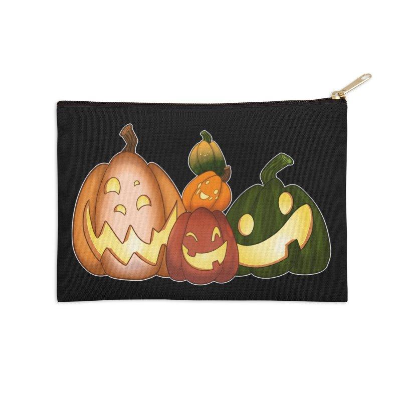 Happy Pumpkin Pals Accessories Zip Pouch by impistry's Artist Shop