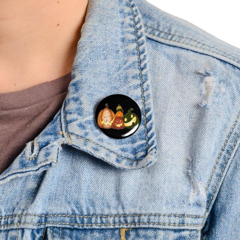 Happy Pumpkin Pals Accessories Button by impistry's Artist Shop
