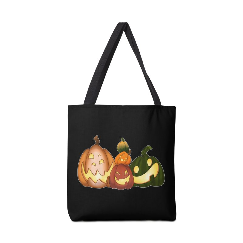 Happy Pumpkin Pals Accessories Bag by impistry's Artist Shop
