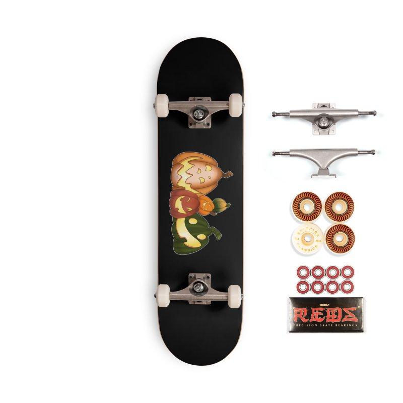 Happy Pumpkin Pals Accessories Skateboard by impistry's Artist Shop