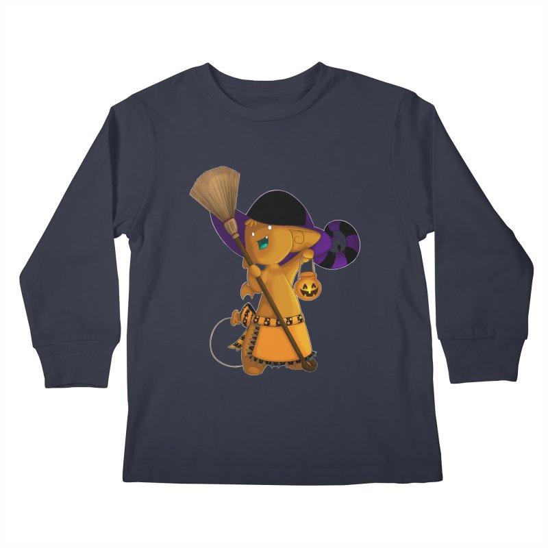 Witchy little helper Kids Longsleeve T-Shirt by impistry's Artist Shop