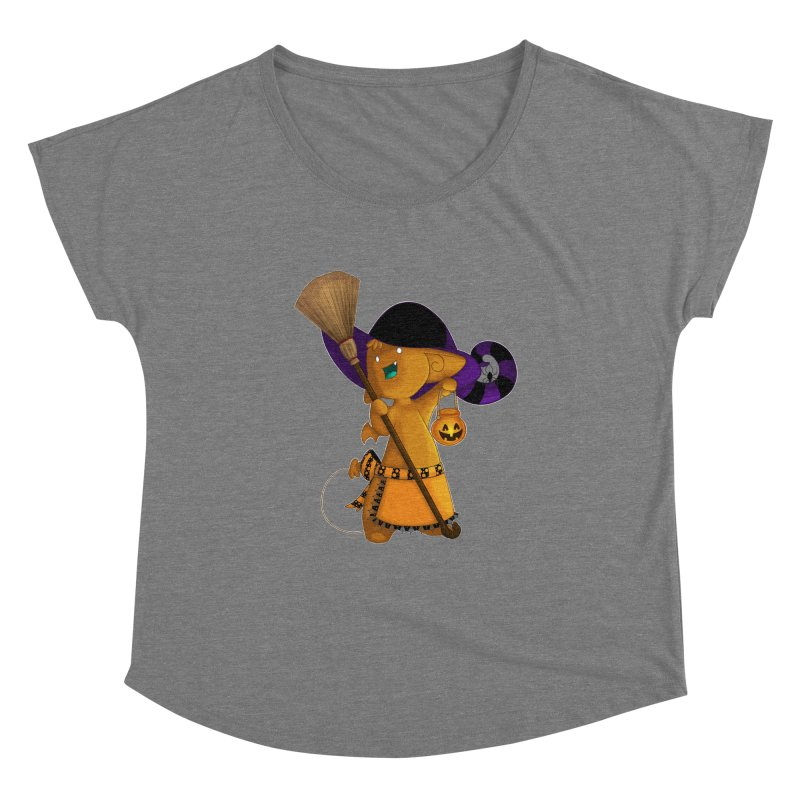Witchy little helper Women's Scoop Neck by impistry's Artist Shop