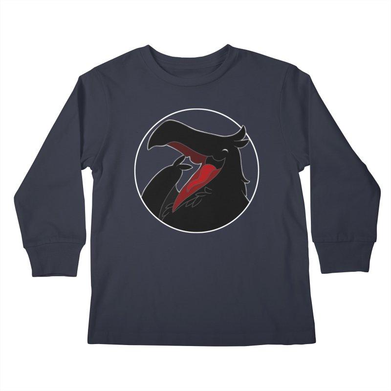 Caw Caw Caw (Ha ha ha)! Kids Longsleeve T-Shirt by impistry's Artist Shop