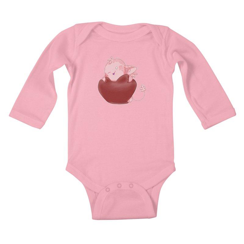 Squishy Heart Kids Baby Longsleeve Bodysuit by impistry's Artist Shop