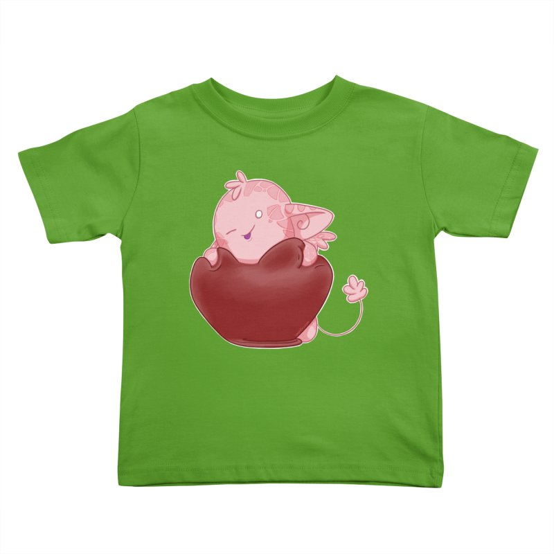 Squishy Heart Kids Toddler T-Shirt by impistry's Artist Shop