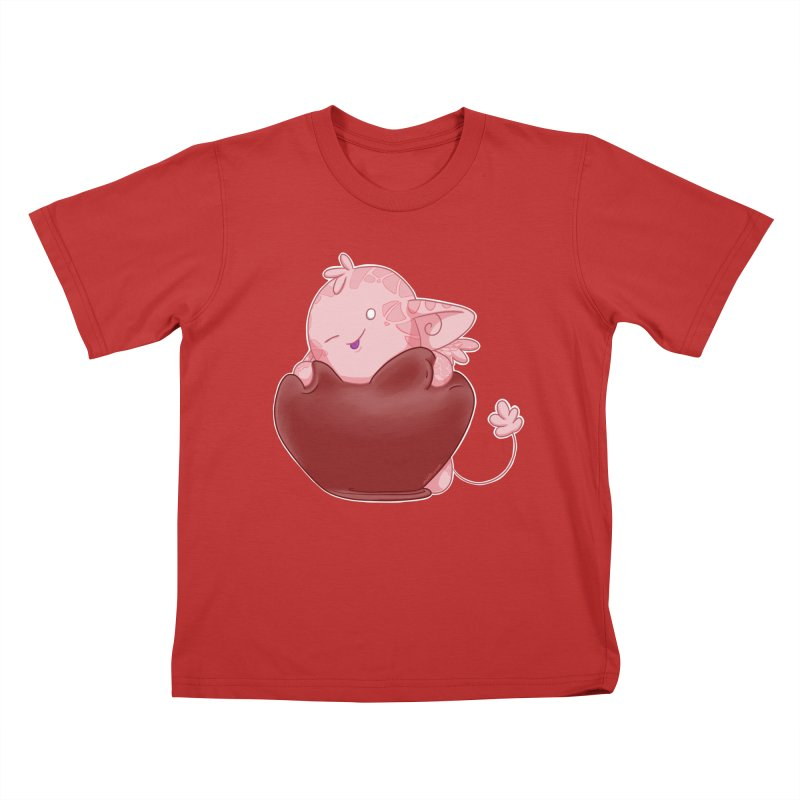 Squishy Heart Kids T-Shirt by impistry's Artist Shop