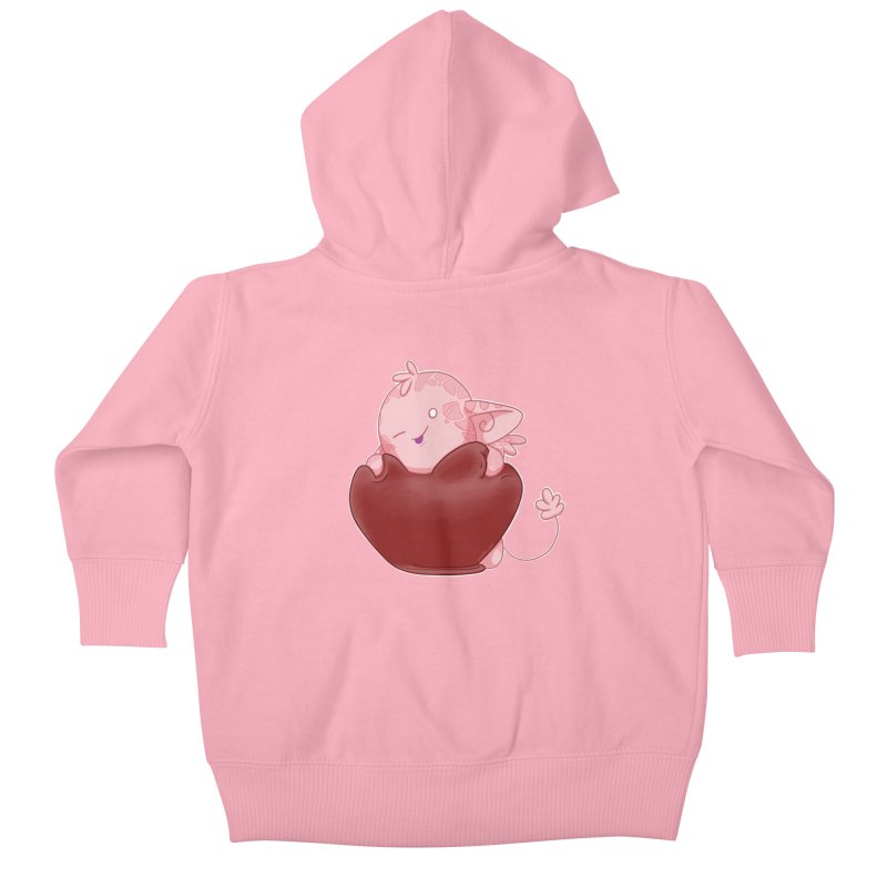 Squishy Heart Kids Baby Zip-Up Hoody by impistry's Artist Shop
