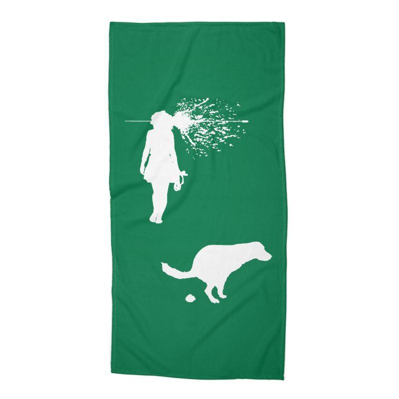 Walking Away - White Accessories Beach Towel by Inappropriate Wares