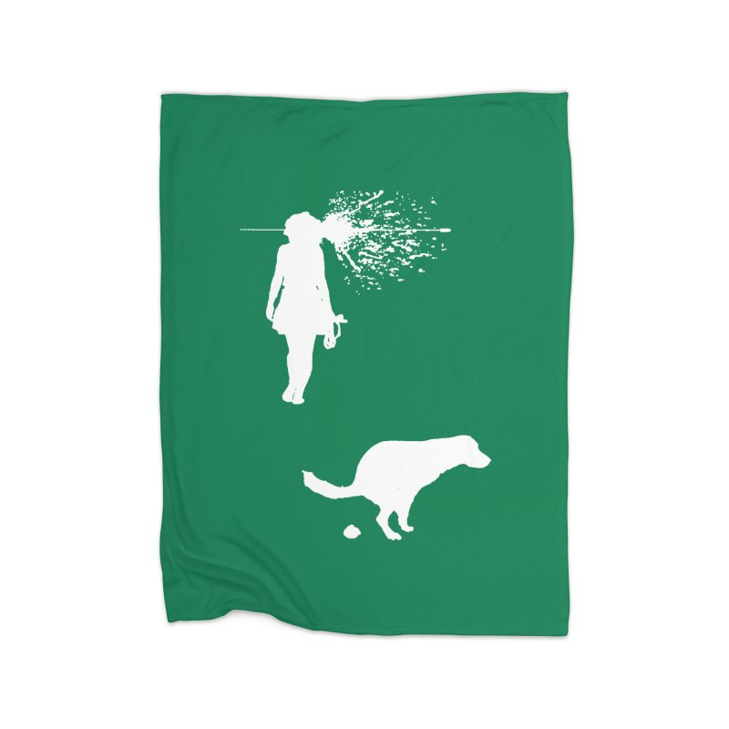 Walking Away - White Home Fleece Blanket Blanket by Inappropriate Wares