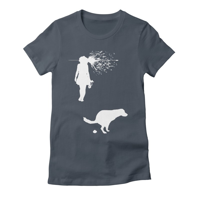 Walking Away - White Women's T-Shirt by Inappropriate Wares