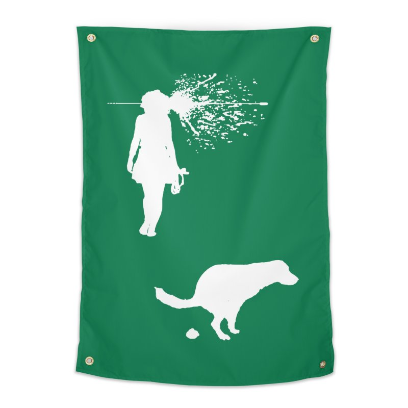 Walking Away - White Home Tapestry by Inappropriate Wares