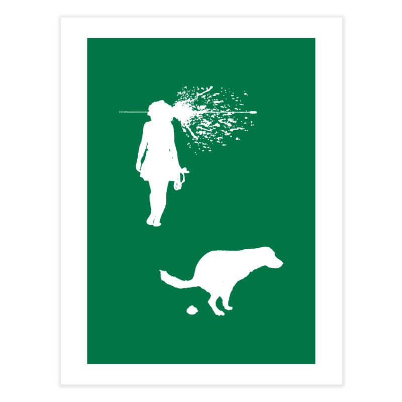 Walking Away - White Home Fine Art Print by Inappropriate Wares