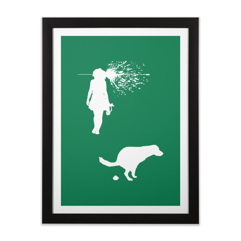 Walking Away - White Home Framed Fine Art Print by Inappropriate Wares