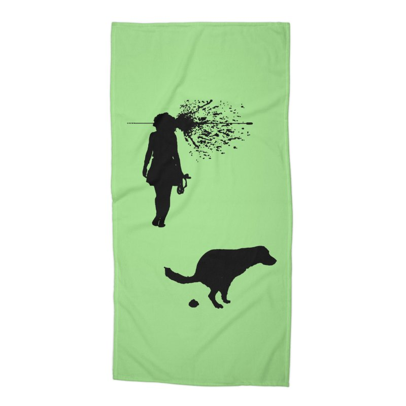 Walking Away - Black Accessories Beach Towel by Inappropriate Wares