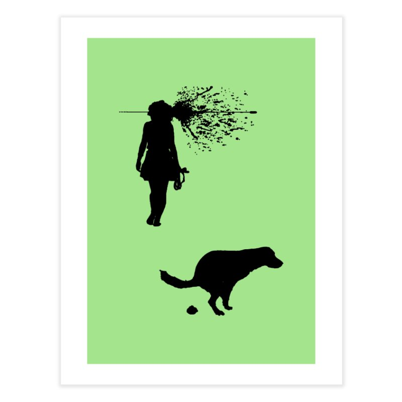 Walking Away - Black Home Fine Art Print by Inappropriate Wares
