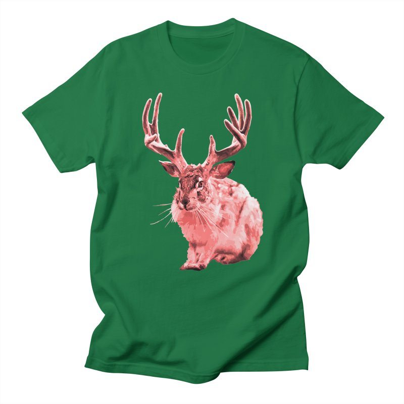 Jackelope - Pink Men's T-Shirt by Inappropriate Wares