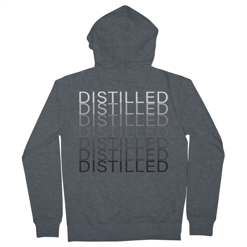 Distilled Alternate Version Women's French Terry Zip-Up Hoody by Inappropriate Wares