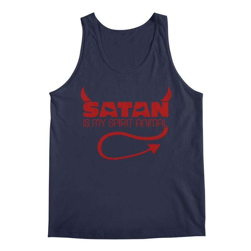 Satan is My Spirit Animal - Red Men's Regular Tank by Inappropriate Wares