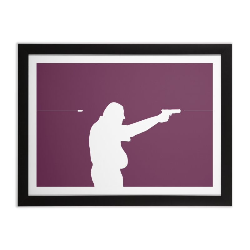 Killing One's Self Home Framed Fine Art Print by Inappropriate Wares