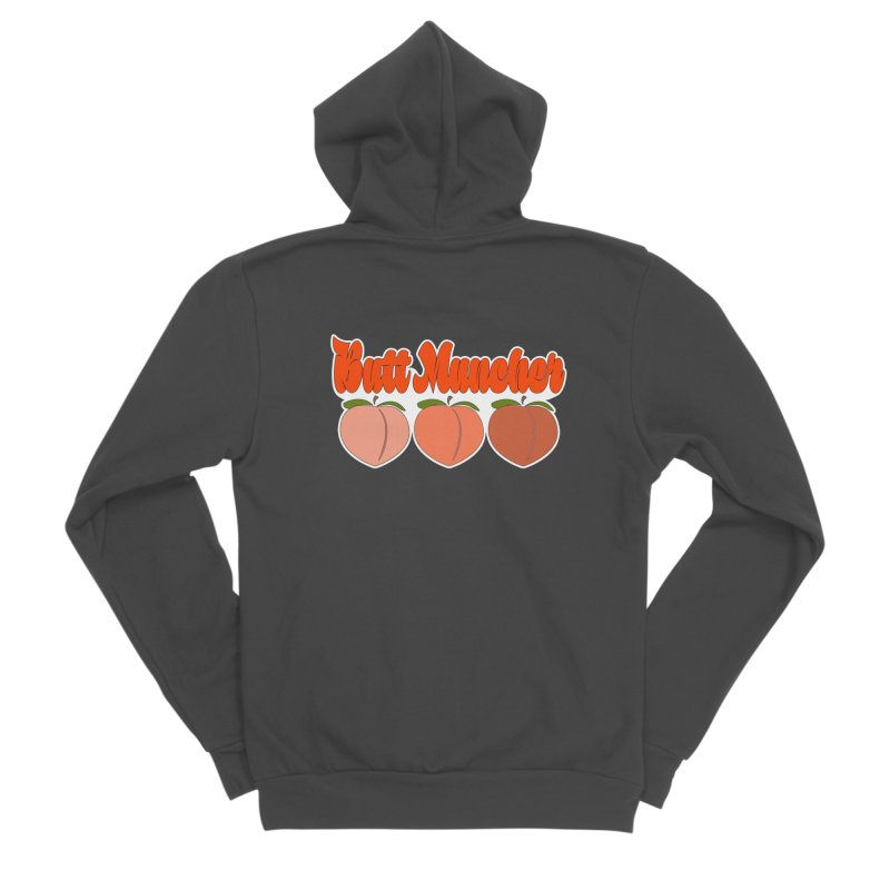 Butt Muncher Men's Sponge Fleece Zip-Up Hoody by Inappropriate Wares