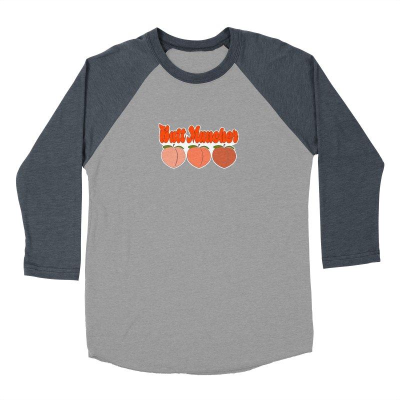 Butt Muncher Men's Baseball Triblend Longsleeve T-Shirt by Inappropriate Wares