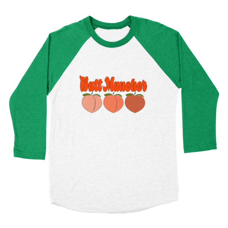 Butt Muncher Women's Baseball Triblend Longsleeve T-Shirt by Inappropriate Wares