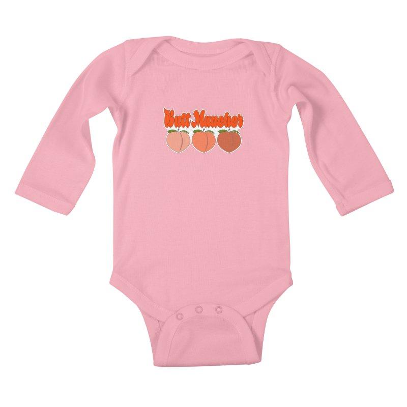Butt Muncher Kids Baby Longsleeve Bodysuit by Inappropriate Wares